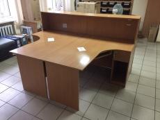 """Офисный угловой стол (2шт) """"Бук"""" бу"""